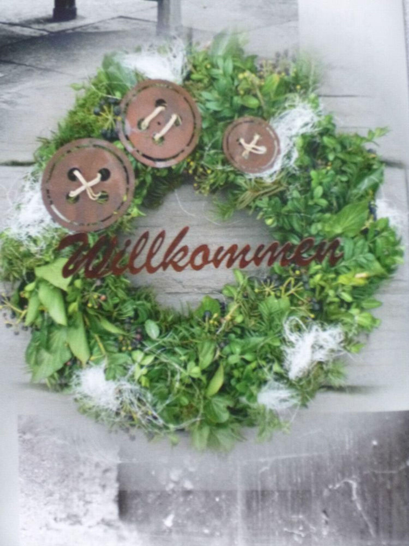 Edelrost Knopf 3er Set Türkranz Rost Metall Garten Kranz Metall Dekoration  Deko