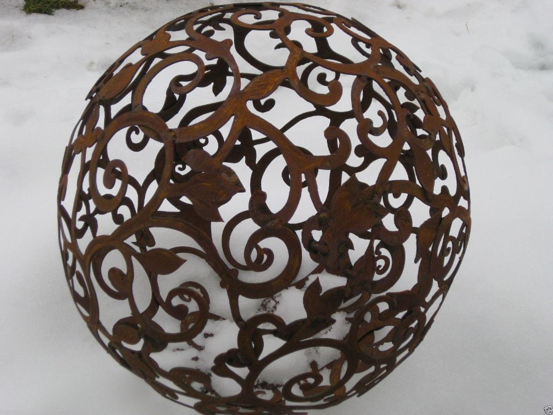 edelrost barockkugel 80 cm kugel rost eisen metall deko gartendeko patina kaufen bei. Black Bedroom Furniture Sets. Home Design Ideas