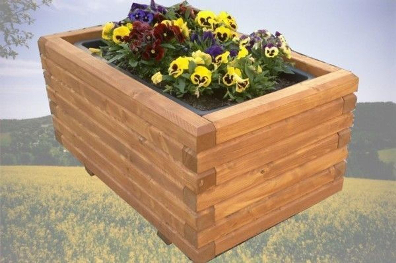 Pflanzkasten Holz Erzgebirge ~ Massiver Pflanzkasten Holz 6 6 lasiert 40x40x36 cm Blumenkasten