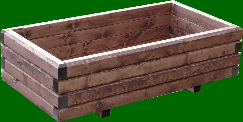 Pflanzkasten Holz Erzgebirge ~ Massiver Pflanzkasten Holz 6 4 lasiert 90x50x28 cm Blumenkasten