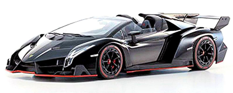 Details About Lamborghini Veneno Roadster 2013 Black Red Line 1 18 Kyosho