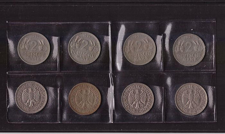 Bund 2 Dm Münzen 4 X Trauben ähren Kompletter Satz In D F G J