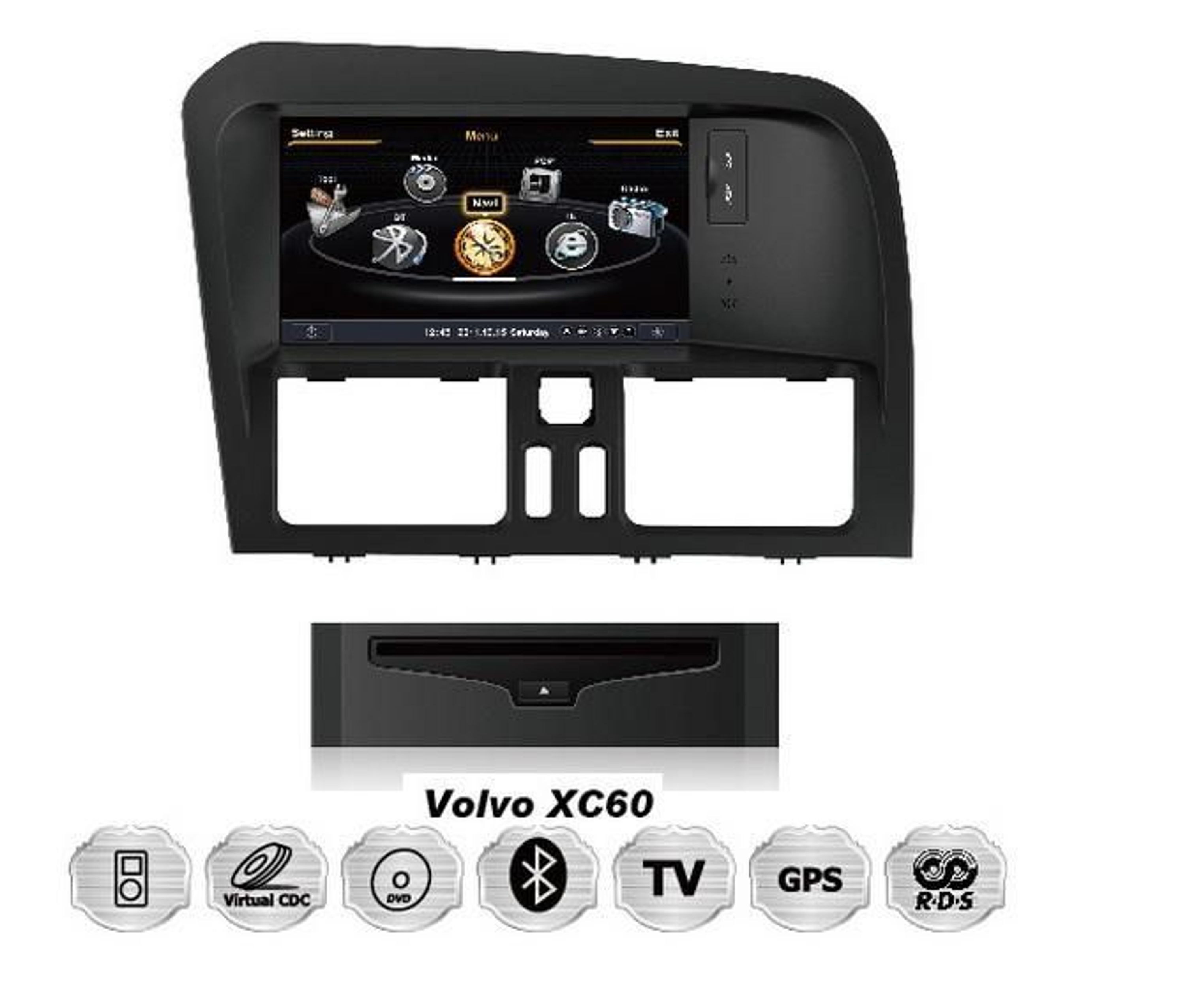 volvo xc60 s100 oem dvd gps navigationssystem kaufen bei. Black Bedroom Furniture Sets. Home Design Ideas