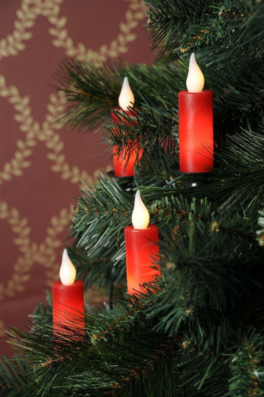 led echtwachskerzen lichterkette f r den weihnachtsbaum. Black Bedroom Furniture Sets. Home Design Ideas