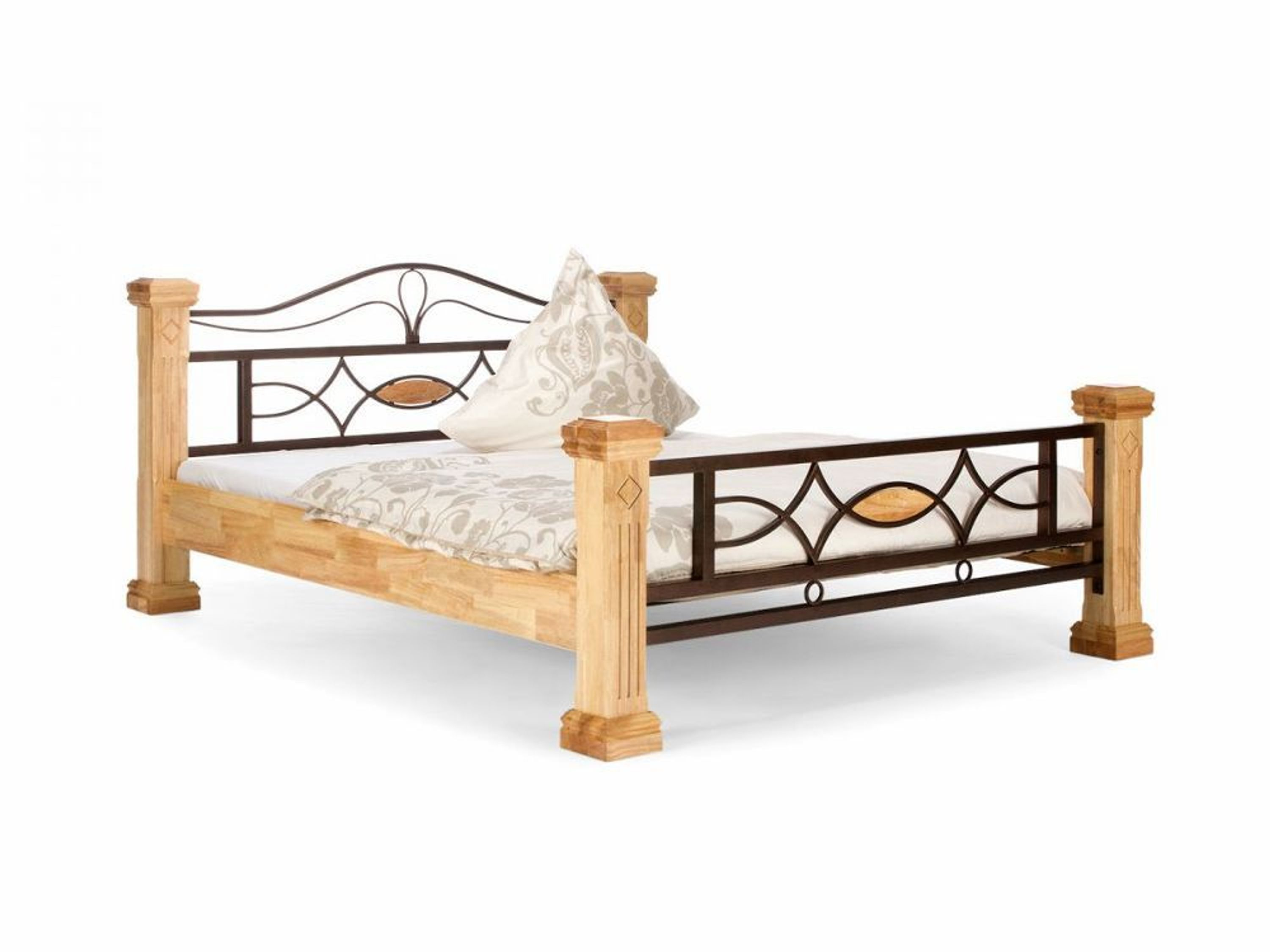 ehebett natur 200x200 holz doppelbett m bel bett neu byzanz kaufen bei. Black Bedroom Furniture Sets. Home Design Ideas