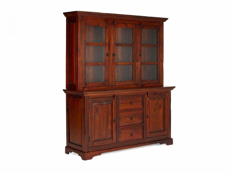 buffet braun anrichte sideboard mit aufsatz holz wohnm bel k chenm bel catana kaufen bei. Black Bedroom Furniture Sets. Home Design Ideas