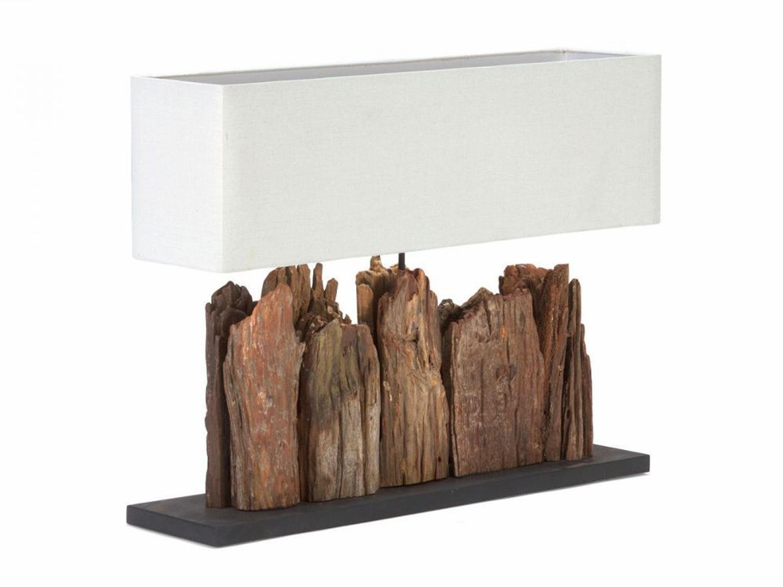 tischlampe holz lampen treibholz leuchten f r m bel leinen. Black Bedroom Furniture Sets. Home Design Ideas