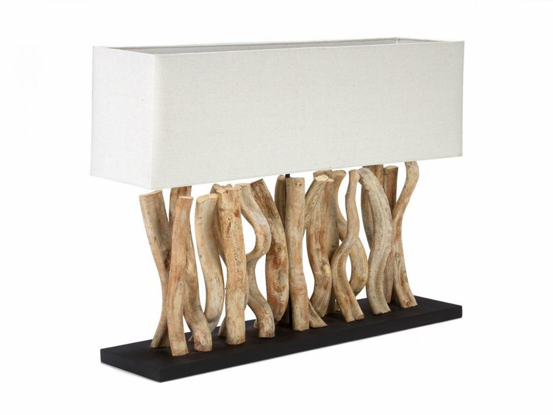 tischlampe lampen holz treibholz leuchten f r m bel leinen. Black Bedroom Furniture Sets. Home Design Ideas