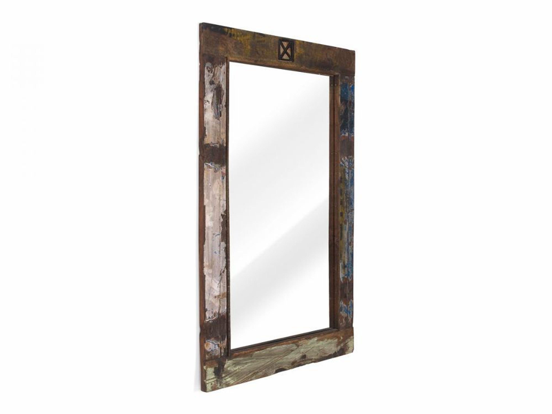 spiegel 120x80 wandspiegel massivholz teak holzspiegel vintage look neu cruzar kaufen bei. Black Bedroom Furniture Sets. Home Design Ideas