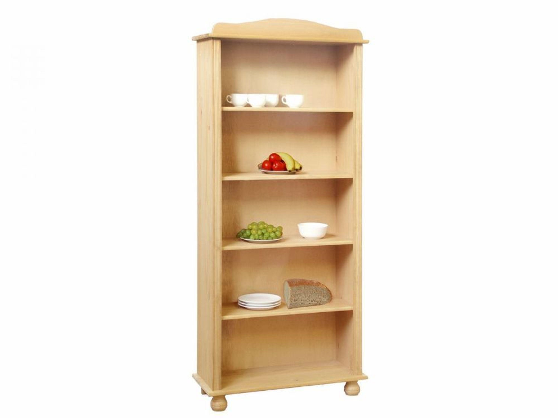 b cherregal massivholz kiefer 5 f cher regal lackiert b ro neu varina kaufen bei. Black Bedroom Furniture Sets. Home Design Ideas