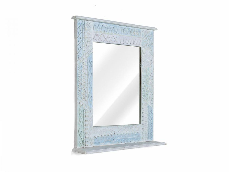 Spiegel wandspiegel 70x80 cm mango holz massiv badm bel for Spiegel 70x80