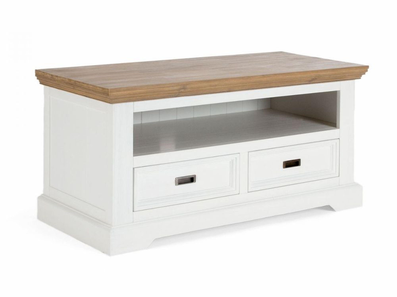 lowboard tv schrank akazie holz wei braun 2 schubladen tv bank neu cocona kaufen bei. Black Bedroom Furniture Sets. Home Design Ideas