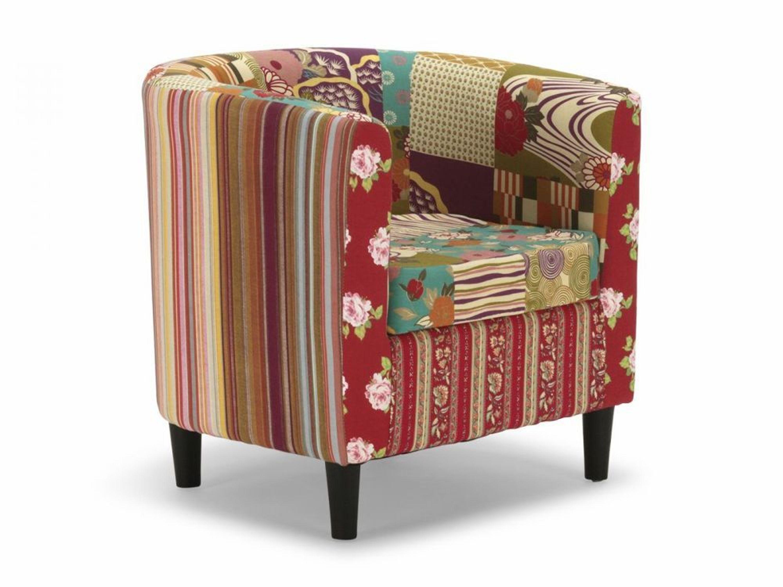 patchwork clubsessel sessel stuhl armlehnstuhl stoff bunt design cholet kaufen bei. Black Bedroom Furniture Sets. Home Design Ideas