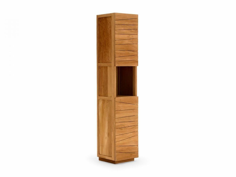 badm bel teak hochschrank 200cm badschrank massiv 2 t rig holz 1 fach del mare kaufen bei. Black Bedroom Furniture Sets. Home Design Ideas