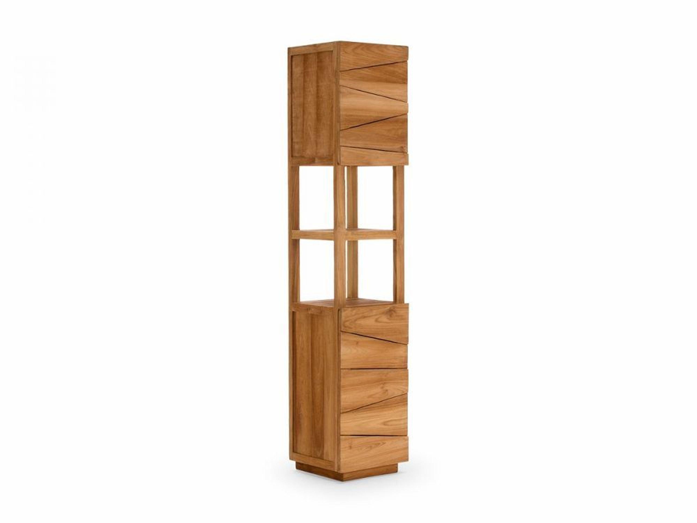 badm bel teak hochschrank 200cm badschrank massiv 2 t rig holz neu del mare kaufen bei. Black Bedroom Furniture Sets. Home Design Ideas