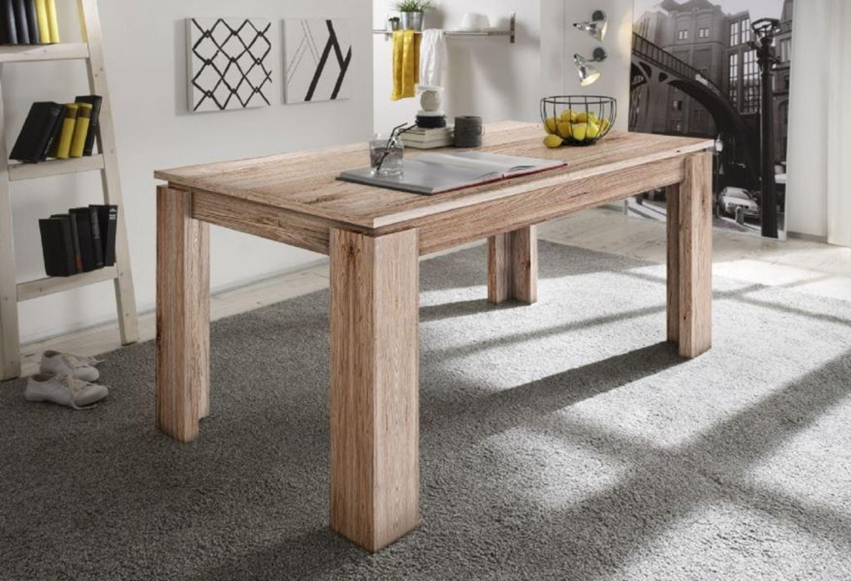 esstisch ausziehtisch eiche san remo sand 160 cm ausziehbar auf 200 cm kaufen bei. Black Bedroom Furniture Sets. Home Design Ideas