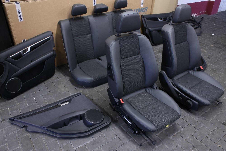 mercedes benz c klasse w204 limousine sitze innenausstattung teilleder r ckbank gebraucht kaufen. Black Bedroom Furniture Sets. Home Design Ideas