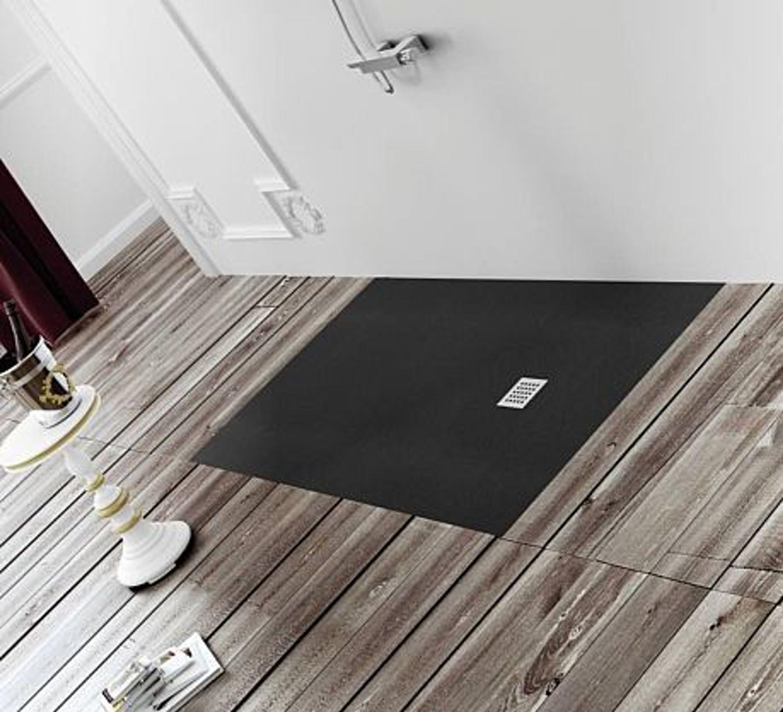 bodengleiche dusche 180x80 mineralguss begehbare dusche 80x180 werkseitig eink r kaufen bei. Black Bedroom Furniture Sets. Home Design Ideas