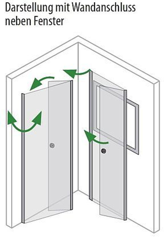 dusche vorm fenster bis 100x100x220 bxtxh u kabine 4 teilig silber matt kaufen bei. Black Bedroom Furniture Sets. Home Design Ideas