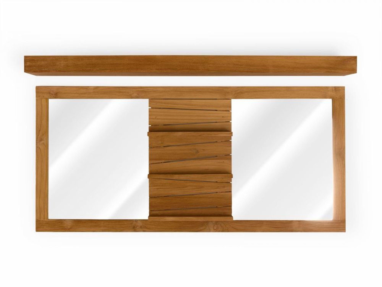 badm bel spiegel 150x70 wandspiegel badspiegel doppelt teak massiv holz del mare kaufen bei. Black Bedroom Furniture Sets. Home Design Ideas