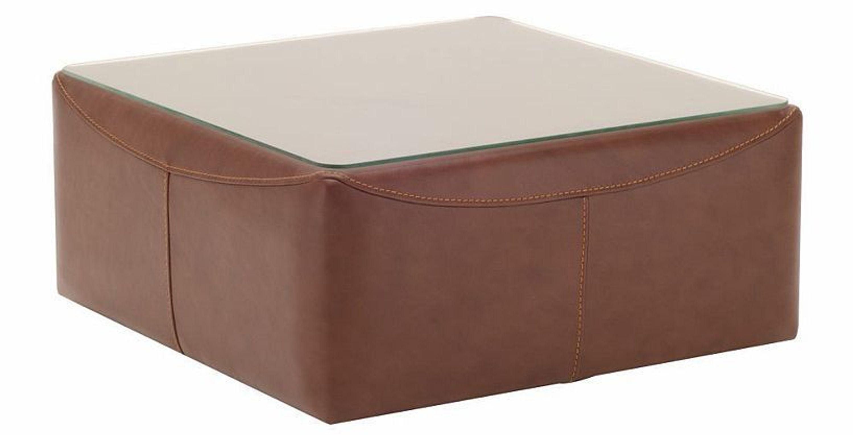 Design Luxus Tisch Lounge Sofa Couch Polster Tisch Leder Braun Sl24