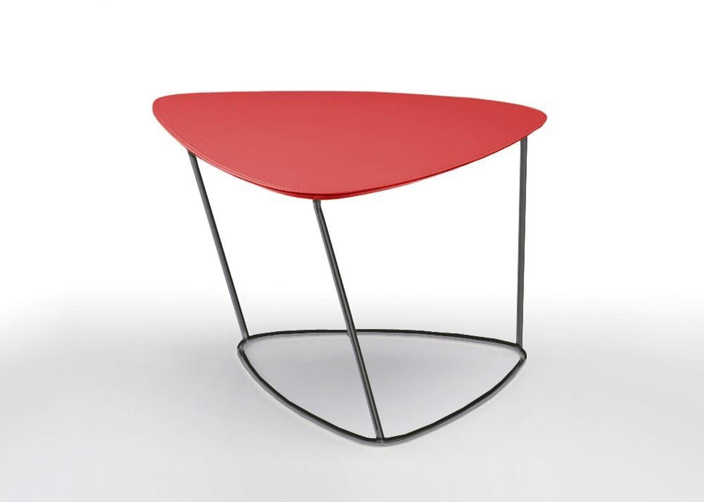 Guapa ct m designer couchtisch nickel bezug leder rot for Designer couchtisch rot