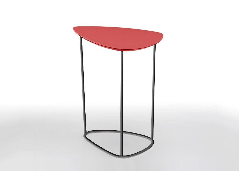 Guapa ct s designer couchtisch nickel bezug leder rot for Designer couchtisch rot