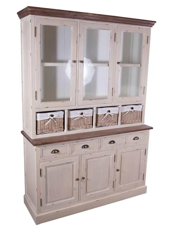 schrankwand marseille buffet breit holz landhaus stil. Black Bedroom Furniture Sets. Home Design Ideas