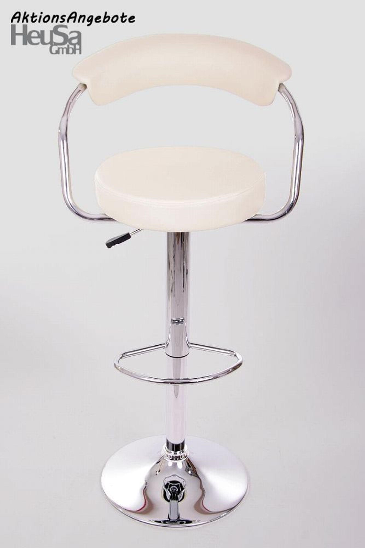 Design barhocker creme verstellbar tresenstuhl hocker mit for Hocker verstellbar