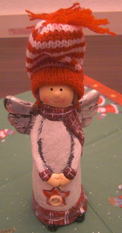 Weihnachten Engel Wollm Tze Stern 15 X 7 Cm Keramik