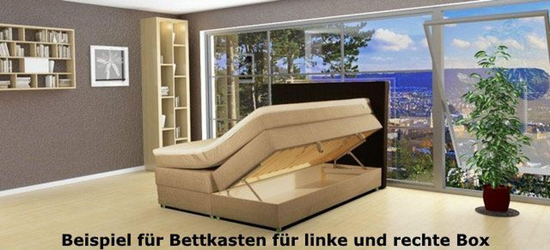 leder boxspringbett mit led 180x200 cm boxspring bett mit. Black Bedroom Furniture Sets. Home Design Ideas