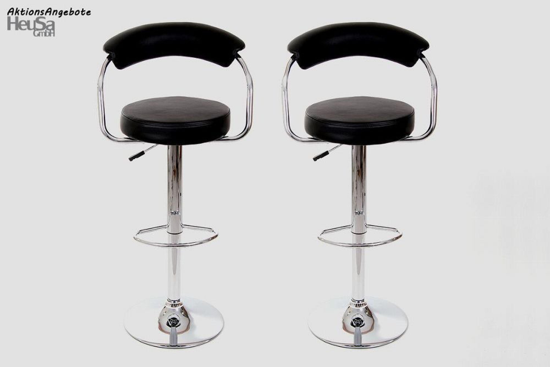 2x design barhocker schwarz chromgestell barhocker mit. Black Bedroom Furniture Sets. Home Design Ideas