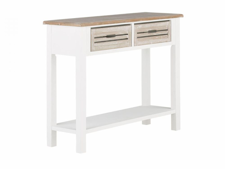 konsolentisch wei telefontisch mit ablage 2 schubf cher m bel neu russel kaufen bei. Black Bedroom Furniture Sets. Home Design Ideas