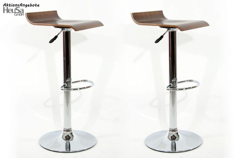 2x design barhocker holz h henverstellbar 360 drehbar holzsitz chromgestell kaufen bei. Black Bedroom Furniture Sets. Home Design Ideas