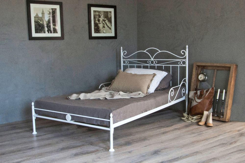 vintage flair metallbett 140x200 in weiss ecru oder schwarz inkl lattenrost kaufen bei. Black Bedroom Furniture Sets. Home Design Ideas