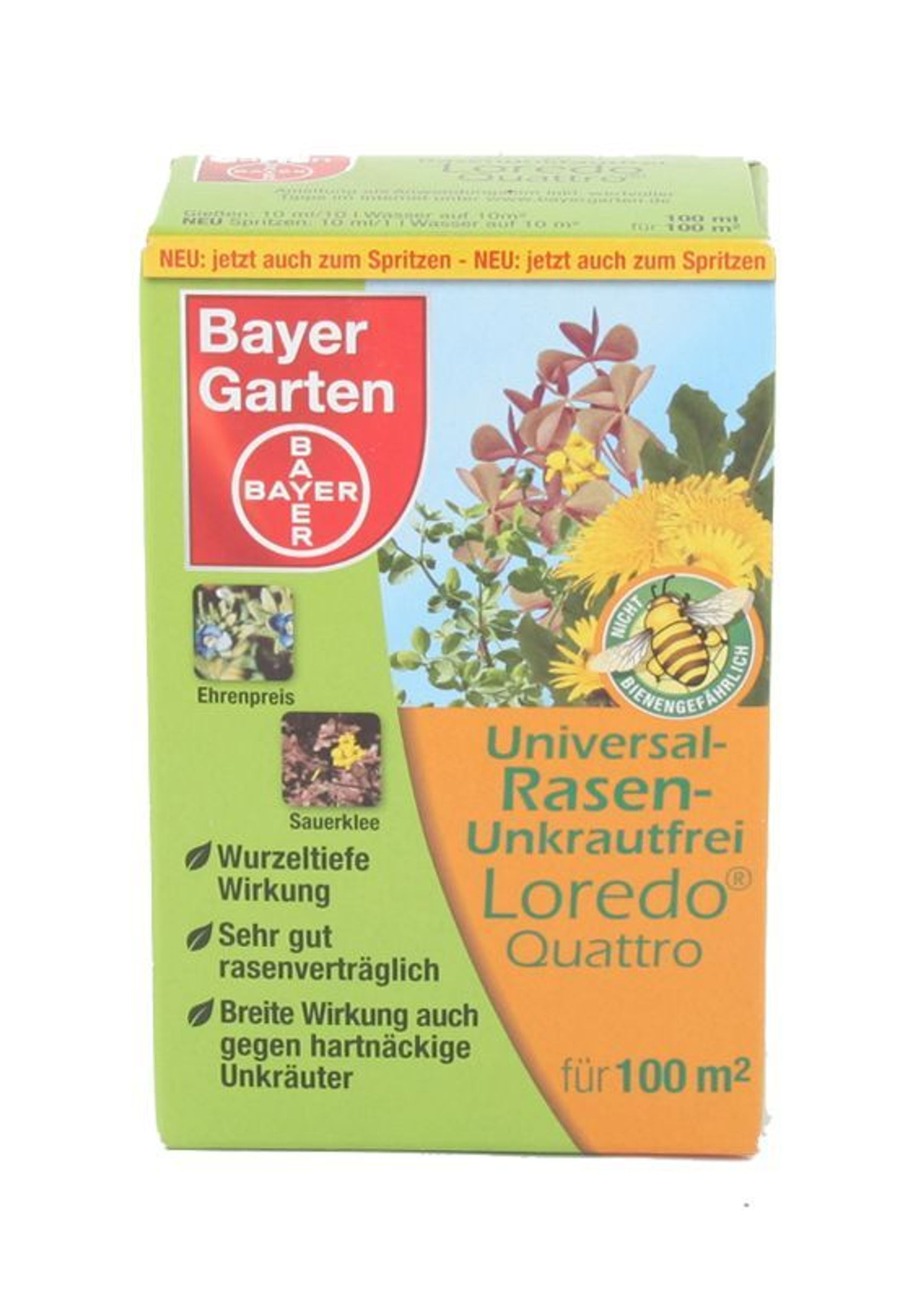 bayer universal rasen unkrautfrei loredo quattro 100 ml. Black Bedroom Furniture Sets. Home Design Ideas