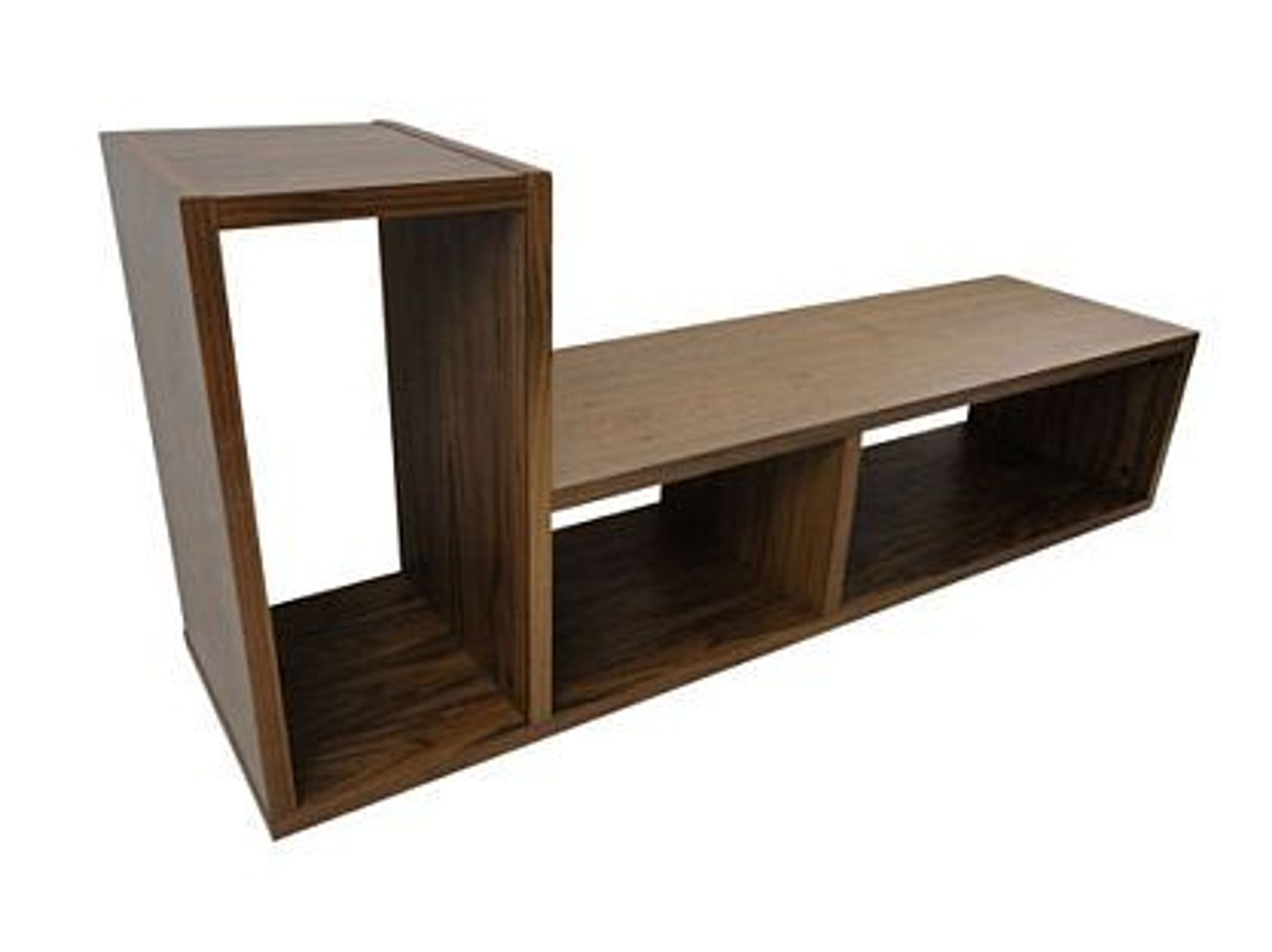 temahome domino regal b cherregal raumteiler holz braun nussbaum neu kaufen bei. Black Bedroom Furniture Sets. Home Design Ideas