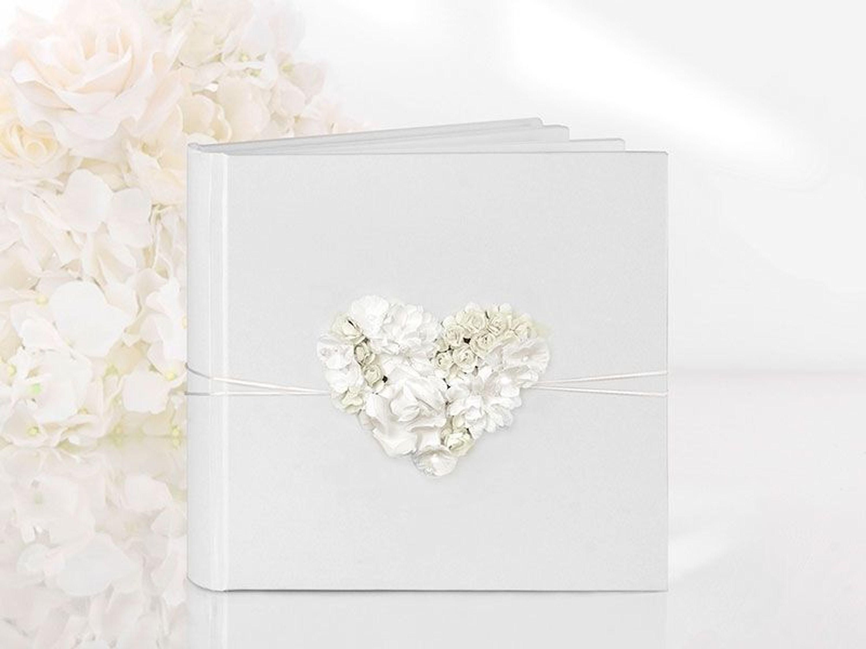 Gastebuch Hochzeit Hochzeitsgastebuch Mit Blumenherz Hochzeitsalbum