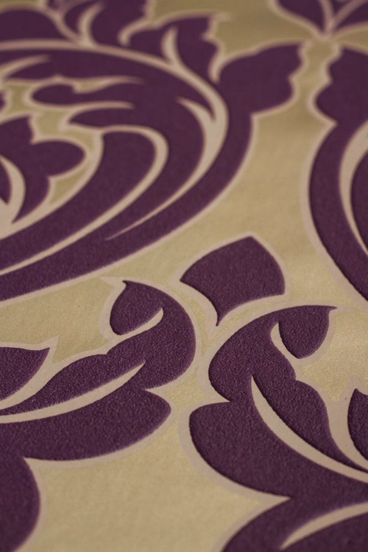 vlies tapete barock muster ornament metallic effekt lila gold graham brown kaufen bei. Black Bedroom Furniture Sets. Home Design Ideas