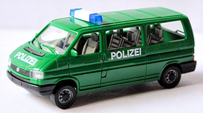 vw t4 lr typ 70 bus mit heckklappe polizei 1990 95 gr n green 1 87 ebay. Black Bedroom Furniture Sets. Home Design Ideas