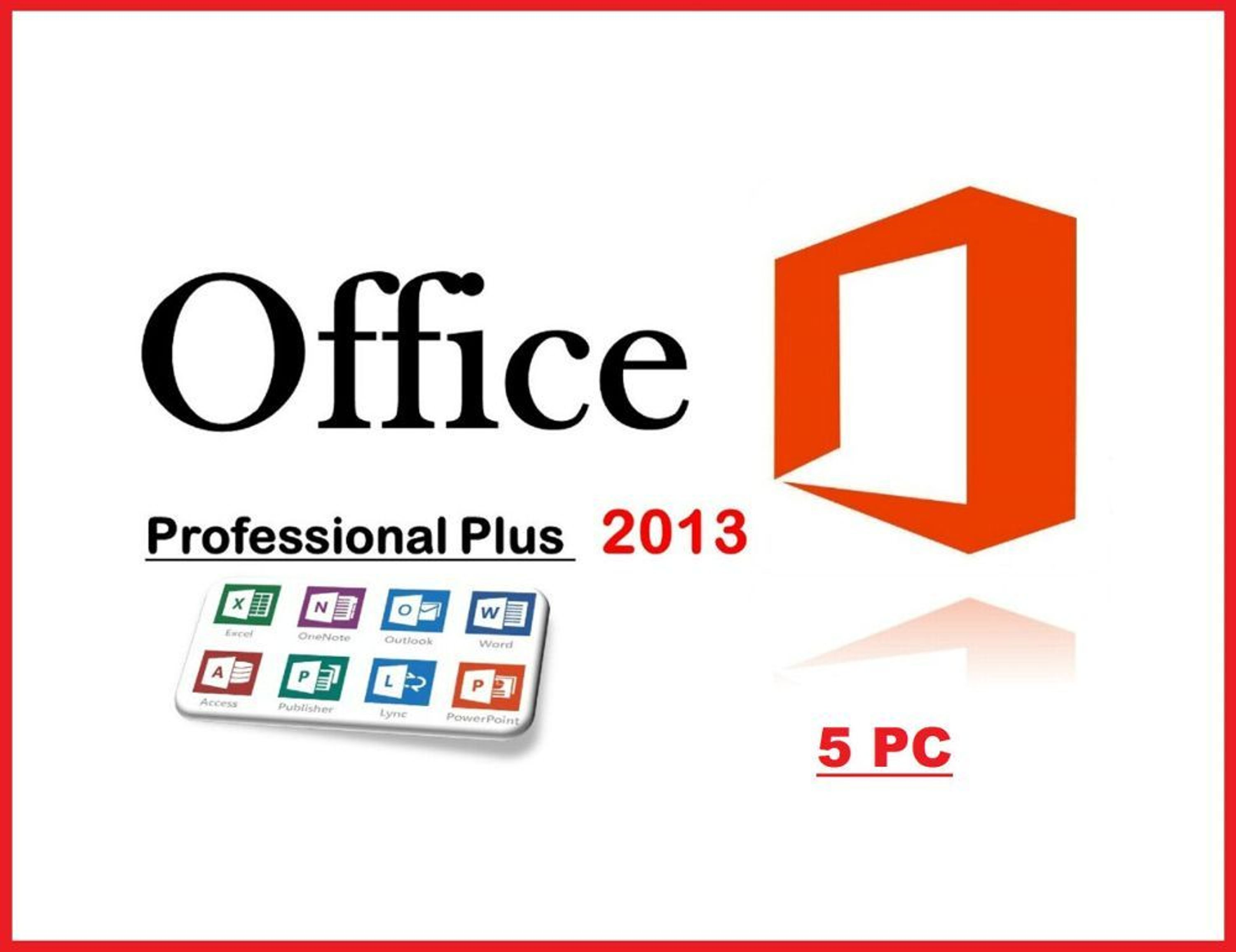 microsoft office 2013 professional plus 5 pc. Black Bedroom Furniture Sets. Home Design Ideas