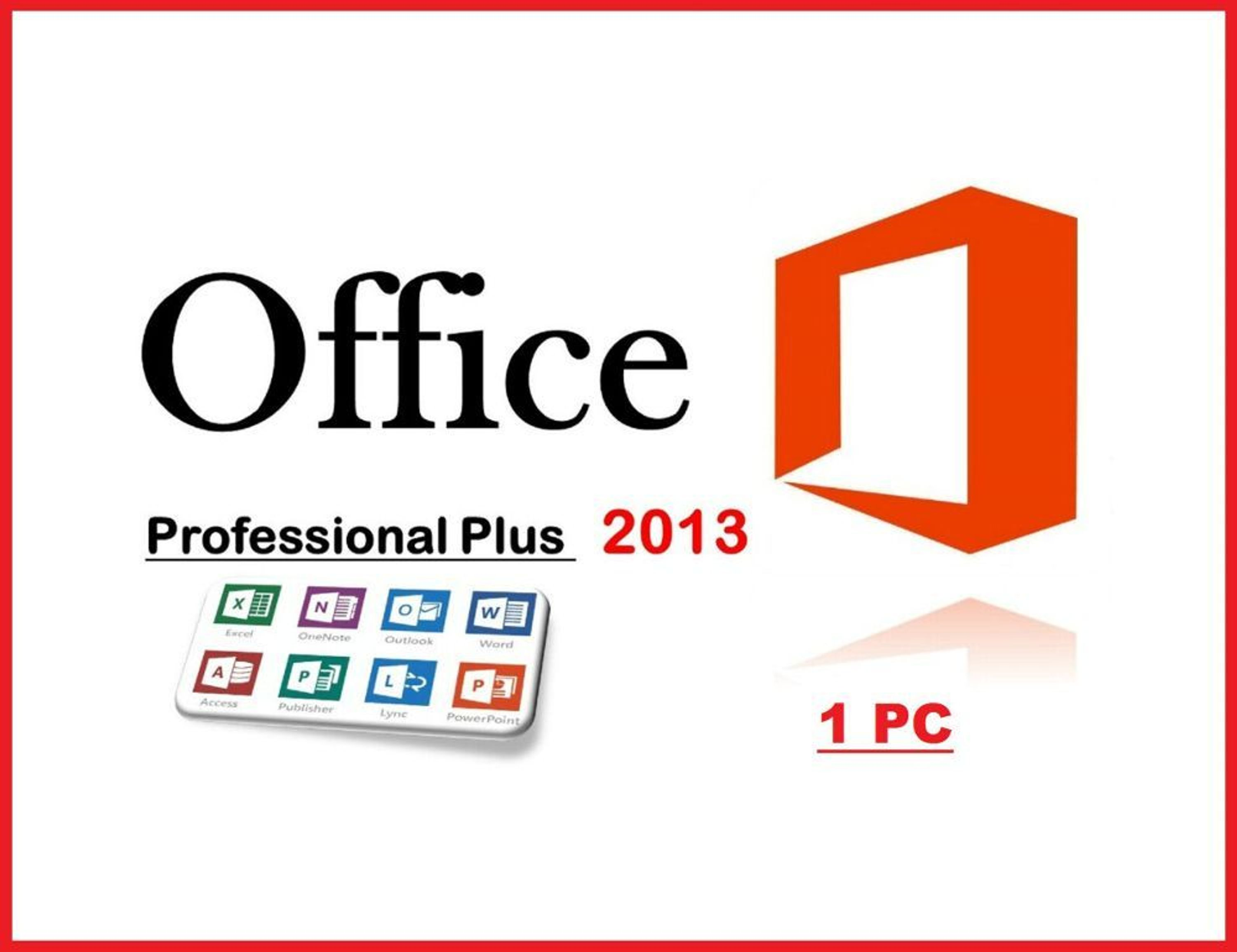 microsoft office 2013 professional plus 1 pc. Black Bedroom Furniture Sets. Home Design Ideas