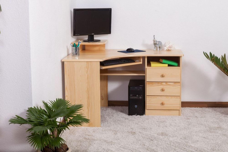 schreibtisch kiefer massiv vollholz natur 005 abmessungen 74 x 130 x 90 cm h kaufen bei. Black Bedroom Furniture Sets. Home Design Ideas