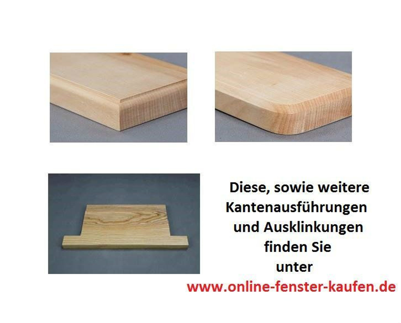 Fensterbank Holz Eiche massiv, 20 cm tief, Längenauswahl 76 - 105 cm ...