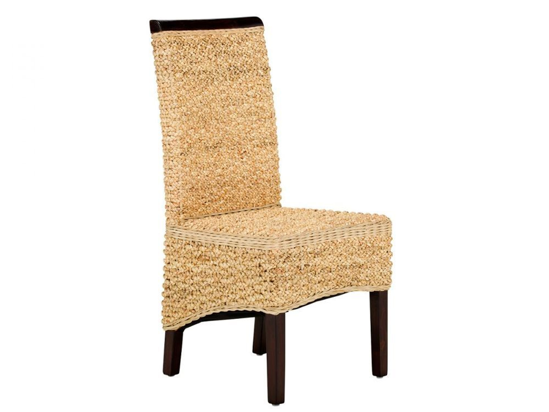Rattanstuhl Stuhl Esszimmer Stühle Wasserhyazinthe Holz Möbel NEU NIZZA kaufen bei Hood.de