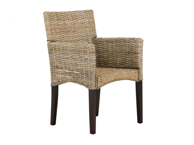 rattanstuhl esszimmerstuhl kubu grau beine kolonial mit armlehne neu onesti kaufen bei. Black Bedroom Furniture Sets. Home Design Ideas
