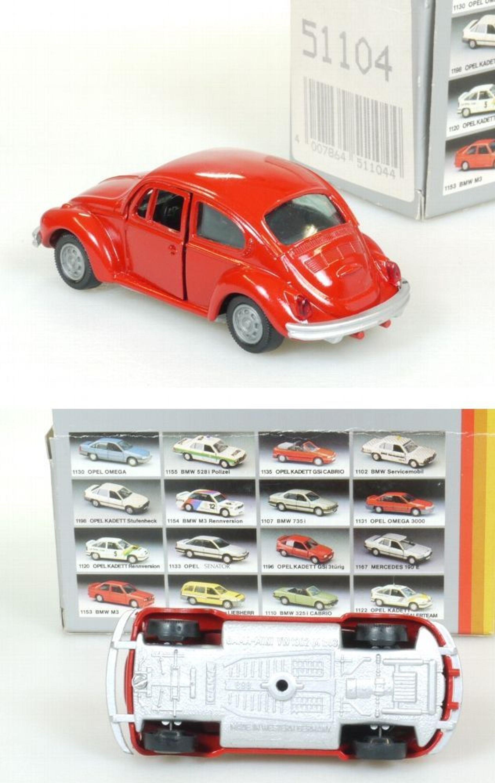 Gama 51104 Volkswagen VW Käfer rot wie neu MIB 1:43 OVP 1409-26-47