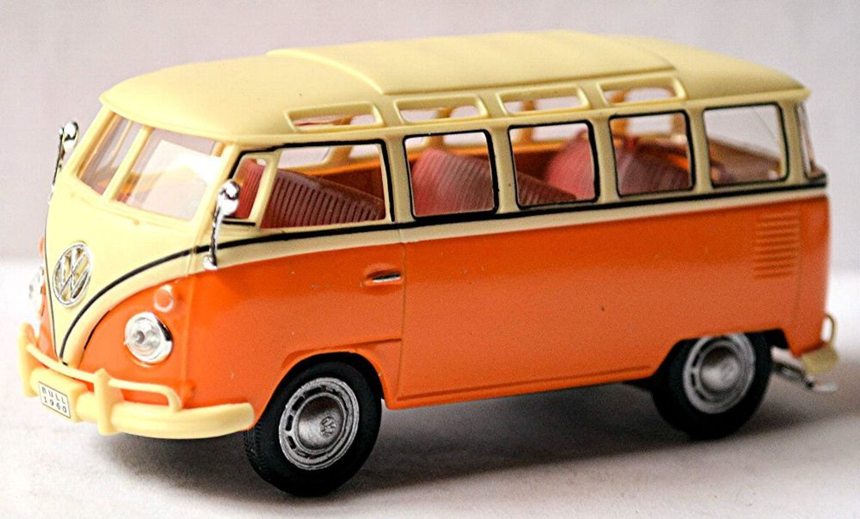 vw volkswagen t1 bulli samba bus microbus deluxe 1951 67 orange white 1 43 ebay. Black Bedroom Furniture Sets. Home Design Ideas