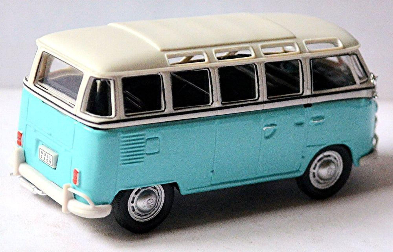 vw volkswagen t1 bulli samba bus microbus deluxe 1951 67 mint wei 1 43 ebay. Black Bedroom Furniture Sets. Home Design Ideas