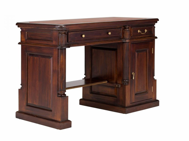 schreibtisch 120x60 englischer stil kolonial leder braun b rom bel neu cambridge kaufen bei. Black Bedroom Furniture Sets. Home Design Ideas